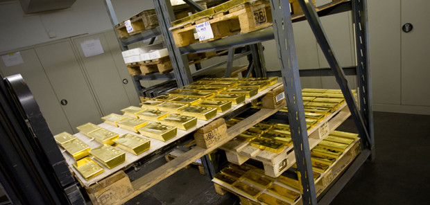 Gold bars stored in Valcambi headquarter