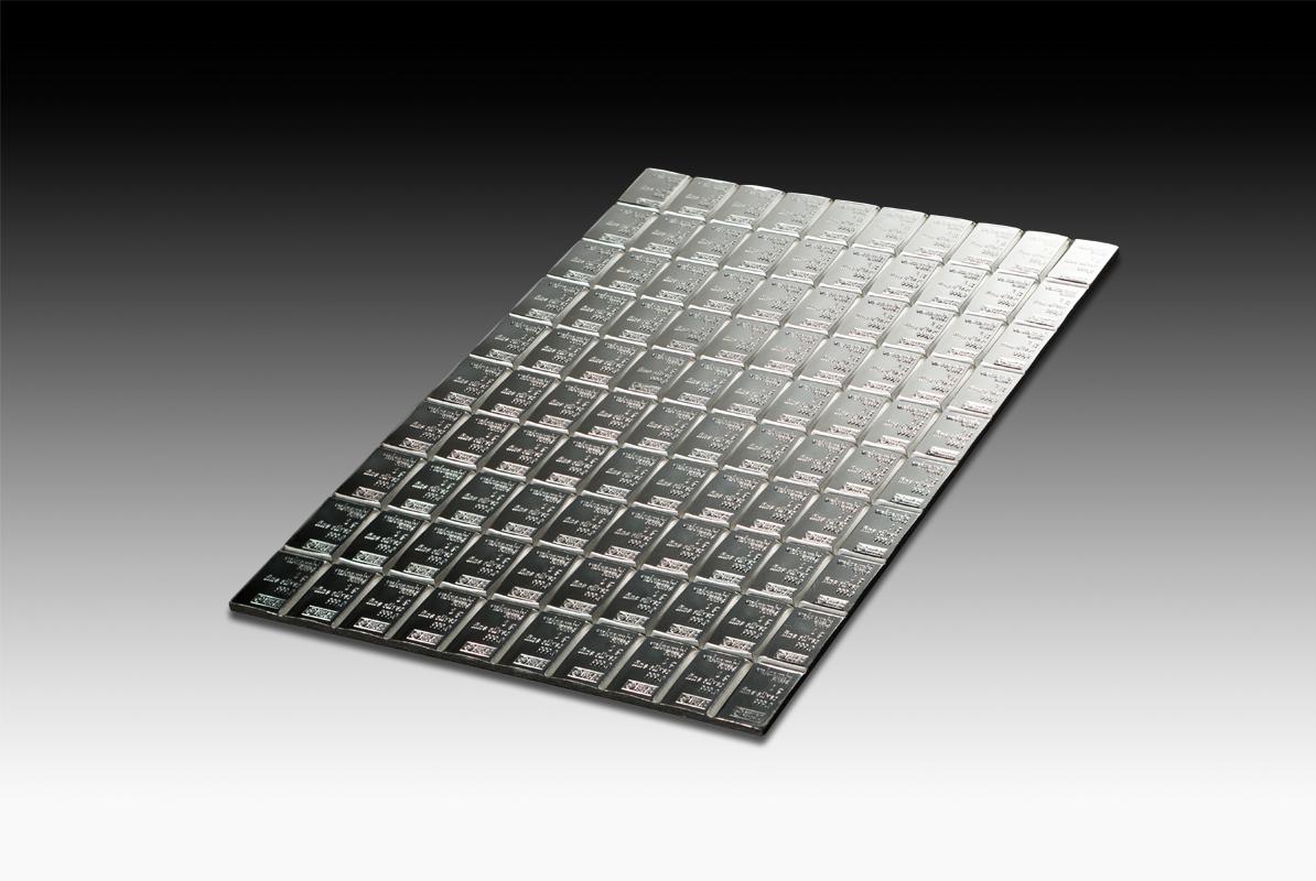 100 X 1 G Silver Combibar