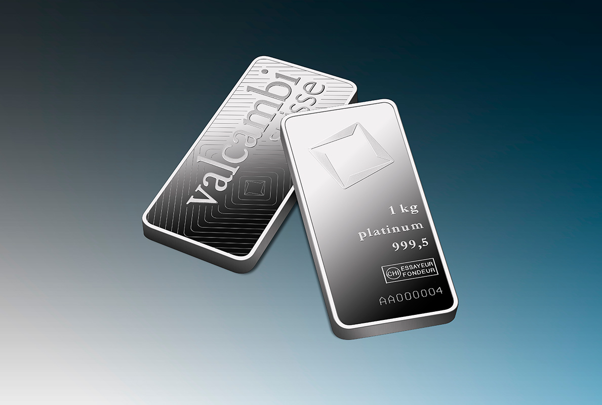 1000 G Minted Platinum Bar