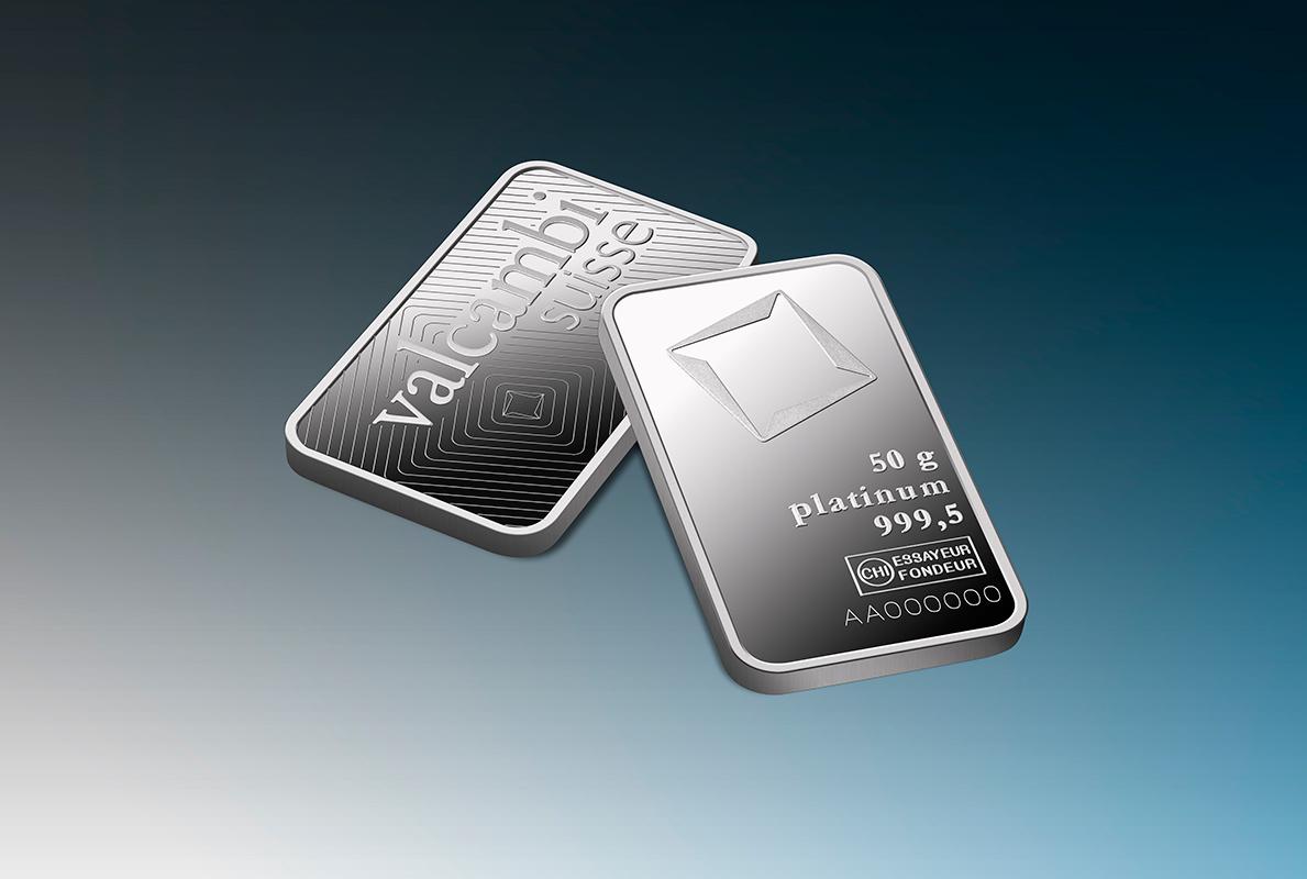 50 G Minted Platinum Bar