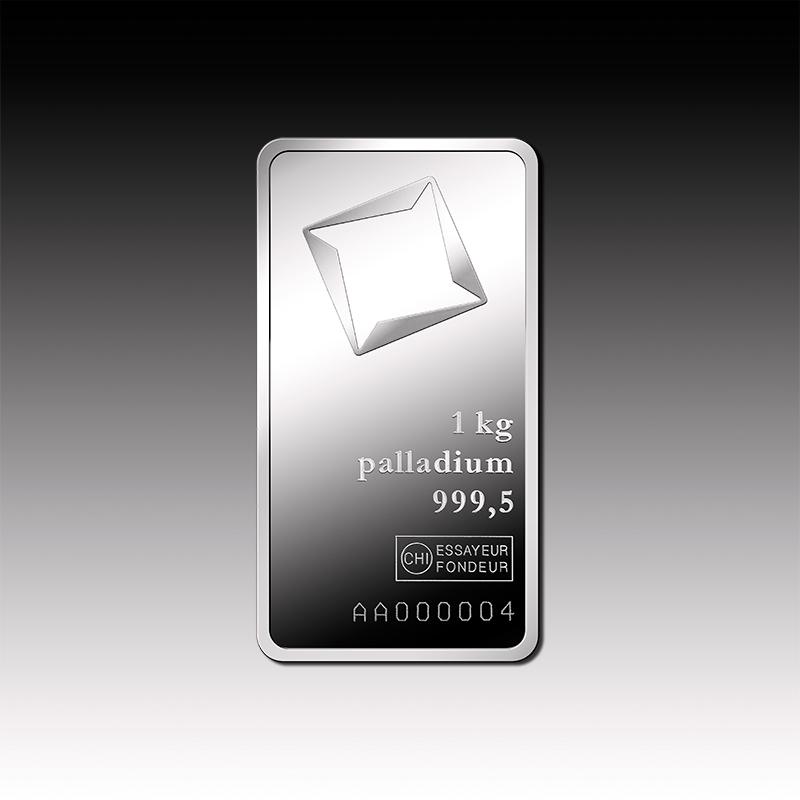 1000 G Minted Palladium Bar